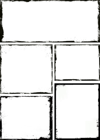 black grunge background: Grunge frame