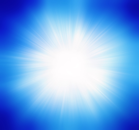 space station: Blue summer sun light burst