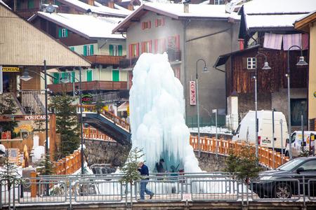 fassa: The city of Campitello ski in the skiing area Val di Fassa, Italy.