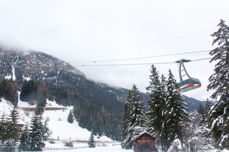 fassa: The funicular to go up to the mountain in the area of Val di Fassa.