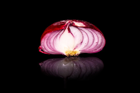 specialty: Red onion from Yalta Crimea, the local specialty, which grows only in a small area on the Black sea. It is sweet. Stock Photo