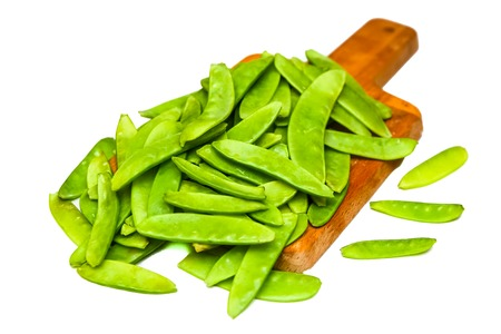 pea pod: Green peas in pods. insulated. Stock Photo