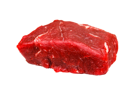 Raw beef for roast beef . Insulated. Stock Photo