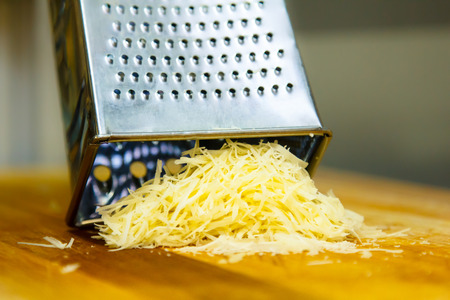 Parmesan cheese grated for spaghetti.
