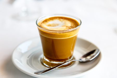 Cortado - Spanish coffee with milk in the Cup.