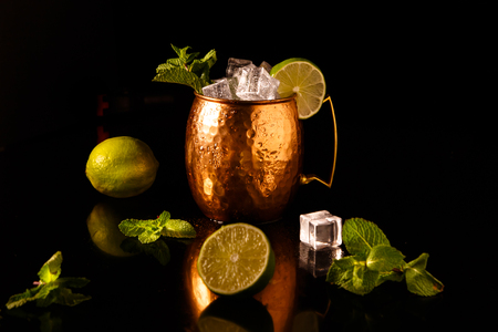 The Moscow mule cocktail is One of the official cocktails of the international bartending Association (IBA), 免版税图像