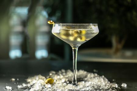 Cocktail wodka Martini vermout Stockfoto