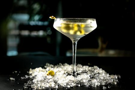 Cocktail vodka Martini vermouth Reklamní fotografie