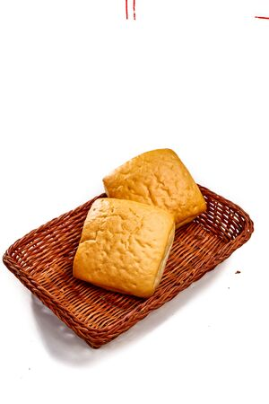 Small buns lie in the bread basket