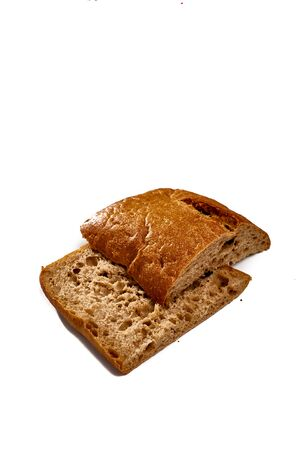 Italian ciabatta on white isolated background