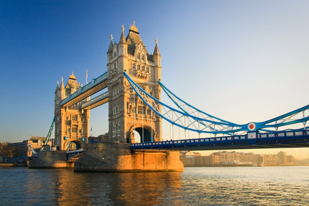 Morning scene with Tower Bridge, London