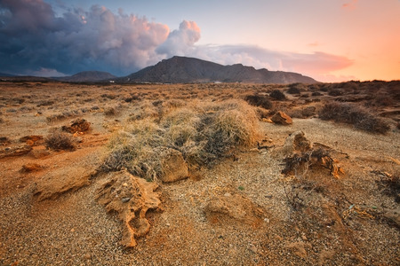Rocky landscape in south eastern Crete  photo