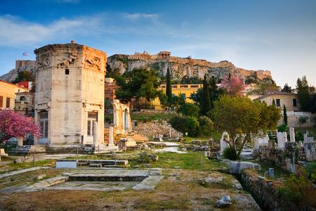 hadrian: Ruinas de la antigua Atenas, la biblioteca de Adriano s