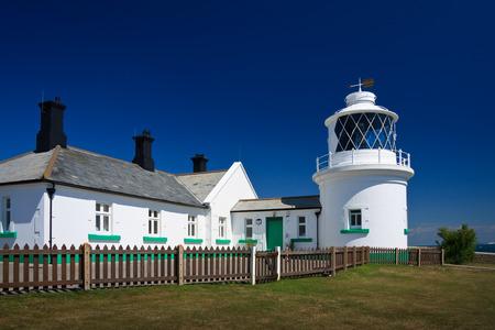 dorset: Anvil Point lighthouse in Dorset, UK  Stock Photo