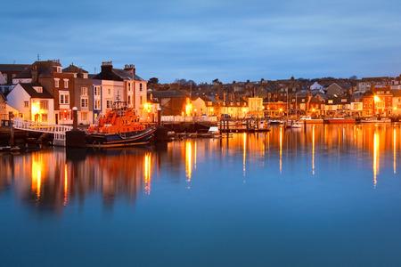 Weymouth harbour in Dorset, UK