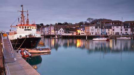 dorset: Weymouth harbor in Dorset, England