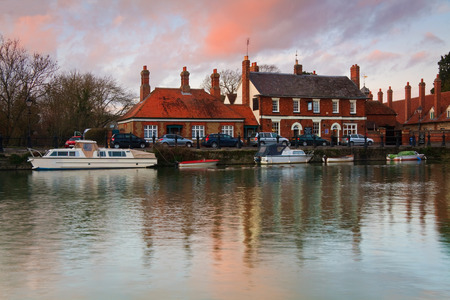 oxfordshire: River Thames in Abingdon town near Oxford city, UK  Stock Photo