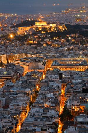 megalopolis: Acropolis as seen from Likabetus Hill, Athens
