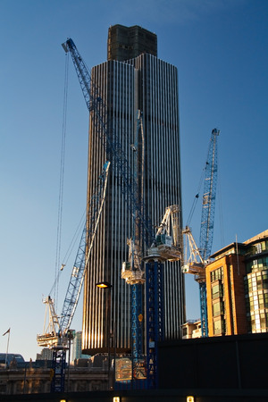 Construction site of Pinnacle, London