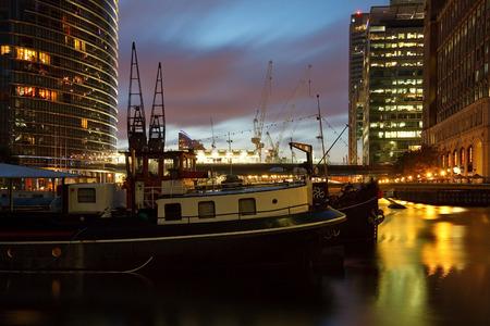 canary wharf: North Dock in Canary Wharf, London  Stock Photo