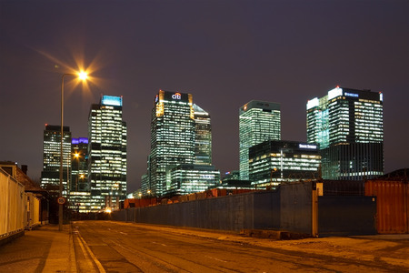 canary wharf: Canary Wharf at night, London