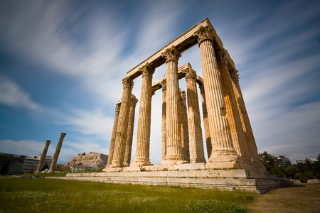 ancient greece: Temple of Zeus in Athens  Stock Photo