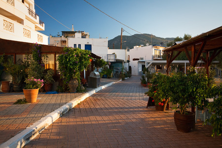 makri: Restaurants in Makri Gialos village in southern Crete.