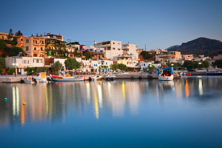 makri: Harbour in Makri Gialos village in southern Crete. Editorial