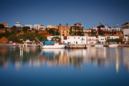 makri: Harbour in Makri Gialos village in southern Crete. Stock Photo