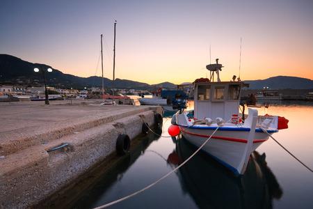 makri: Harbour in Makri Gialos village in southern Crete. Stock Photo