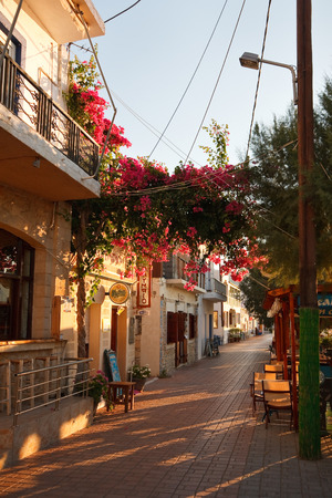 makri: Promenade in Makri Gialos village in southern Crete. Editorial