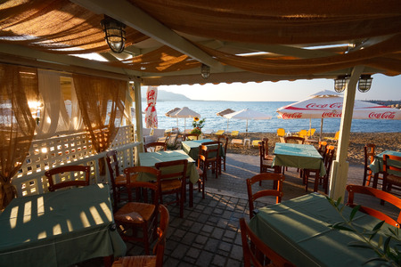 makri: Restaurant on a beach in Makri Gialos village in southern Crete.