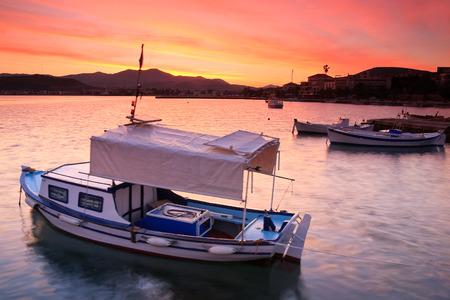 nafplio: Early morning in Nafplio harbour, Peloponnese, Greece.