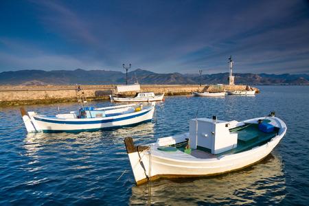 nafplio: Morning scenery in Nafplio harbour, Greece.