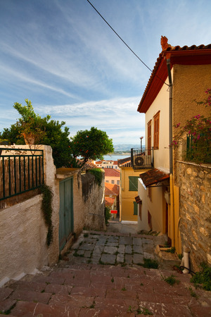 nafplio: In the streets of old town of Nafplio, Peloponnese, Greece.