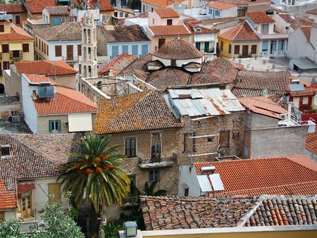nafplio: Rooftops in Nafplio city in Peloponnese, Greece.
