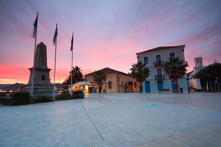 nafplio: Main square in old town of Nafplio, Greece. Stock Photo