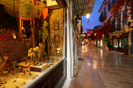 nafplio: Early morning in the streets of Nafplio, Greece.
