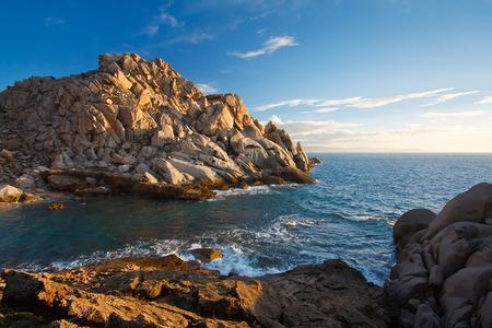 capo: Coast of Capo Testa in Sardinia, Italy.