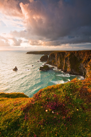 Atlantic coast of Cornwall in UK.