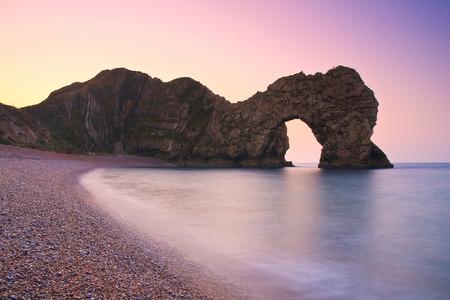 jurassic coast: Durdle Door on Jurassic Coast in Dorset, UK. Stock Photo