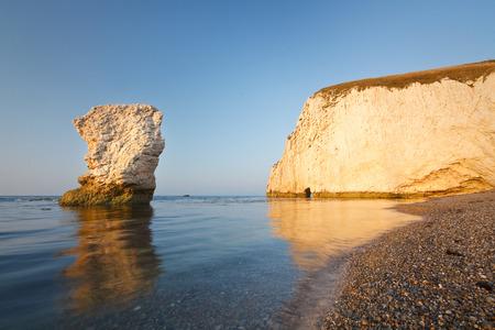 jurassic coast: Morning light on the cliffs of Jurassic coast in Dorset, UK.