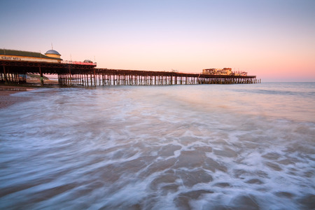 hastings: Pier in Hastings after fire in 2010, East Sussex, UK. Stock Photo