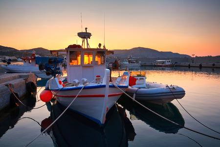 makri: Harbour in Makri Gialos village in southern Crete, Greece.