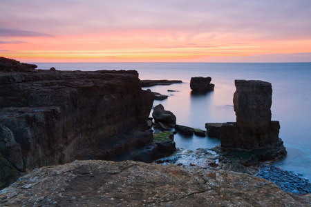 portland: Rocky coast in Portland Bill, Dorset, UK.