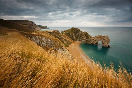 durdle door: Durdle Door on Jurassic Coast in Dorset, UK. Stock Photo