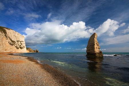 jurassic coast: Beach on Jurassic coast in Dorset, UK. Stock Photo