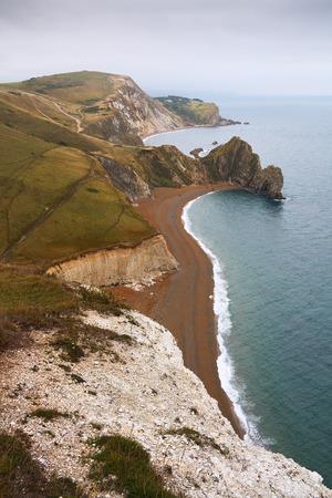 jurassic coast: Jurassic Coast near Lulworth and Durdle Door in Dorset, UK.