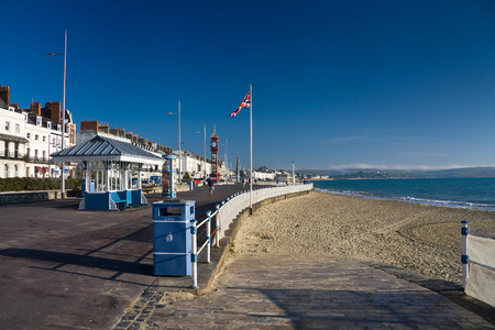 seafront: Seafront in Weymouth, Dorset, UK.