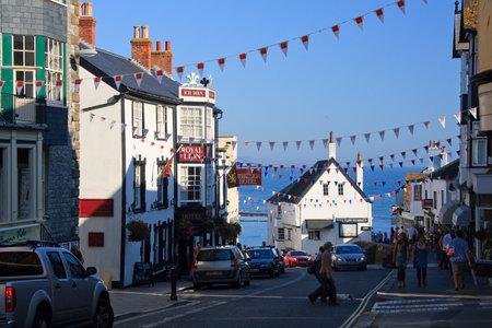 lyme: Old town of Lyme Regis, Dorset, UK.